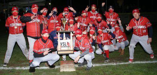 Die Dornbirner Redhawks sicherten sich wie im Vorjahr den Titel in der Baseball-Variante Softball.cth