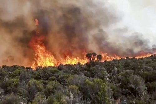 Die Flammen haben sich weiter ausgebreitet. AP