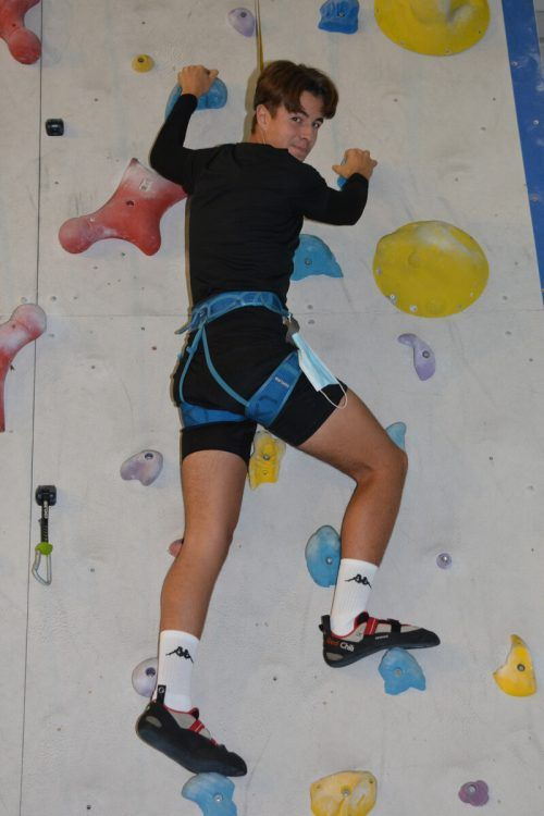 Die GASCHT-Schüler lernen das Klettern kennen.GASCHT