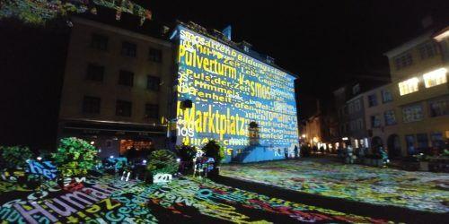 """Die nächtliche Altstadt als ein beleuchtetes Freiluftmuseum. So stellte sich die Lichtstadt Feldkirch im Vorjahr dar. Die Alternative für 2020 heißt """"Spotlight"""".Archiv/Heilmann"""