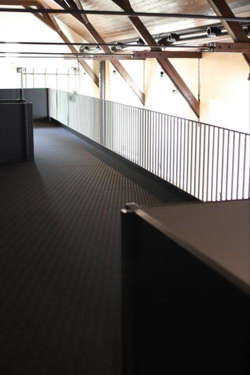 Die neu errichtete Galerie bietet Platz für den Coworking-Space.