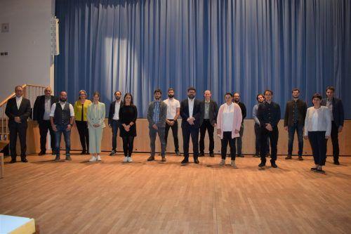 Die neue 18-köpfige Hittisauer Gemeindevertretung.