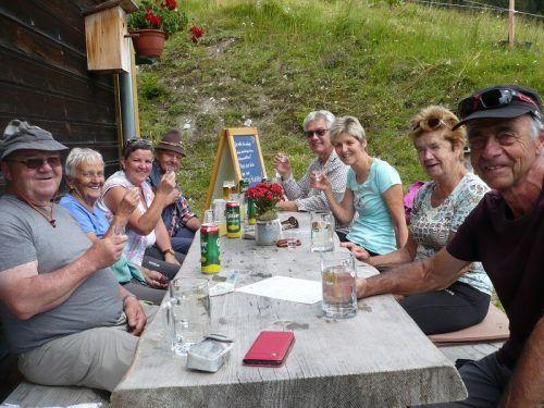 Die Pensionisten genossen auch in diesem Jahr die Wanderungen mit Wanderführer Ulrich in vollen Zügen.Pensionistenverband vorarlberg