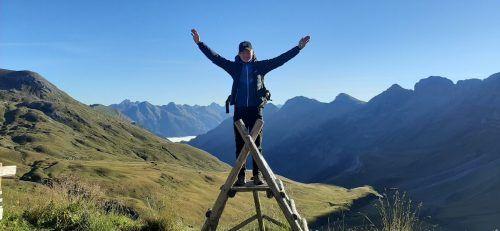 """Die Schönheit der Natur versetzte Christoph Metzler mehrmals in Euphorie. Der junge Mann wusste nicht, """"dass Vorarlberg so wunderschön ist"""".     Archiv"""