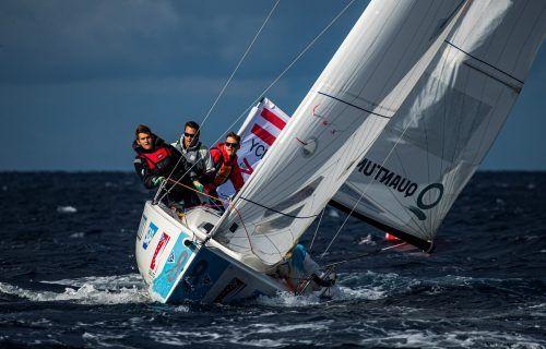 Die Starkwindbedingungen kamen den vier Seglern vom Yachtclub Hard nicht gerade entgegen.SAILING Champions League / SAILING Energy