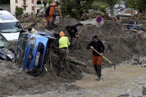 Die Unwetter haben schwere Zerstörungen hinterlassen. afp
