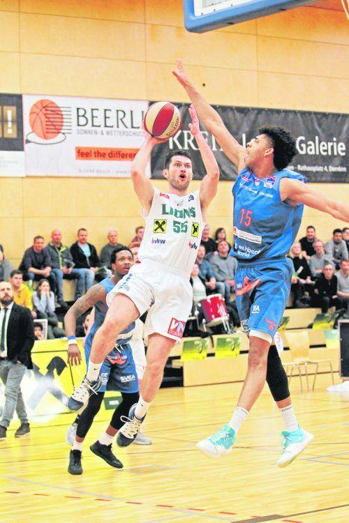Die VN verlosen zu jedem Basketball-Heimspiel der Dornbirn Lions 2 x 2 Eintrittskarten – die Aktion ist gültig für die komplette Saison.zaponig