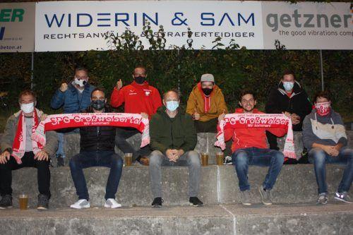 Die Vorstandsmitglieder von Tabellenführer SPG Großwalsertal unterstützten ihre Mannschaft, die einen klaren Erfolg feierte.Knobel