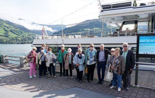 Die Wallfahrer vom Seniorenbund bei der Panorama-Schifffahrt am Zeller See.Seniorenbund