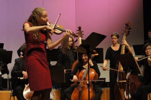 Die weltbekannte Geigerin Cecilia Bernardini spielte Beethovens berühmtes Violinkonzert. Concerto Stella Matutina