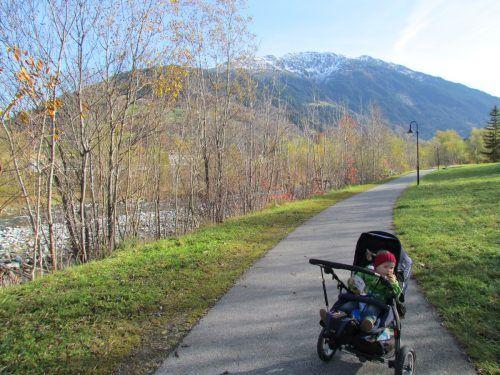 Drei der neun Gaglawege sind mit dem Kinderwagen befahrbar. Kraus