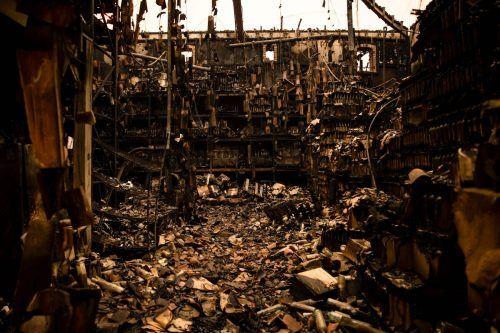 Dutzende Häuser, darunter auch viele Weingüter wurden ein Raub der Flammen. AFP