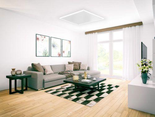 Echte Infrarotheizungen können problemlos an der Decke montiert werden und schauen ästhetisch gut aus.easy Therm