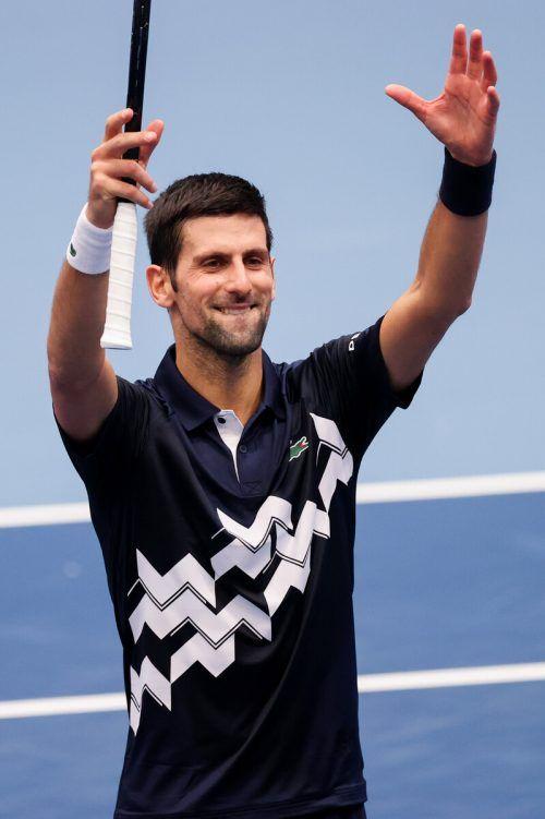 Ein Tiebreak-Krimi brachte Novak Djokovic auf die Siegerstraße. gepa