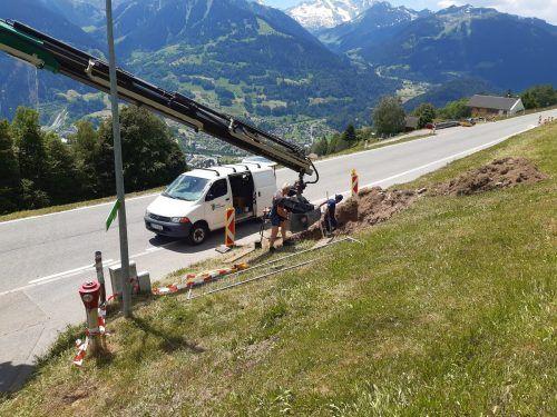 In Bartholomäberg wurden heuer rund 1440 Laufmeter Wasserleitungen verlegt. Gemeinde