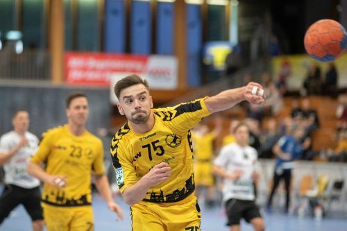 Flügelflitzer Marijan Rojnica verbuchte eine fehlerfreie Wurfstatistik und erzielte gegen Ferlach fünf Tore.VN/Sams, Verein/Ibele