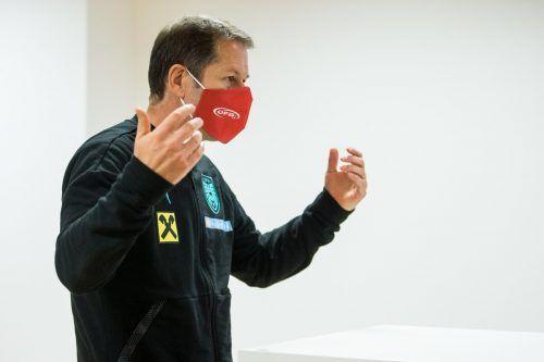 """Franco Foda: """"Ungewöhnliche Zeiten erfordern ungewöhnliche Maßnahmen.""""gepa"""