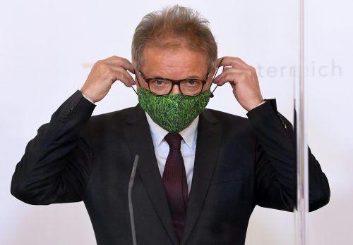 Gesundheitsminister Rudolf Anschober legte am Donnerstagabend die neue Verordnung vor.APA