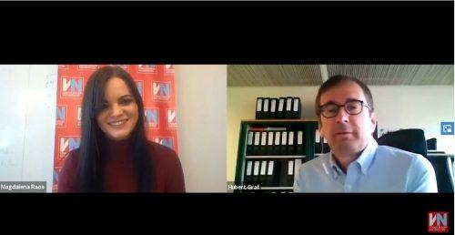 Hubert Graf im Videointerview mit VN-Redakteurin Magdalena Raos. Vn/Screenshot