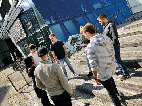 Im WIFI Dornbirn haben Kommunikationsexperten die Vorarlberger Ausbildungsbotschafter im Rahmen von Coaching-Tagen auf die Schuleinsätze vorbereitet. Lehre in Vorarlberg/Markus Curin