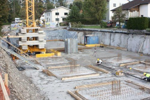 In Frutzolen wird eine Kleinwohnanlage mit zwölf Einheiten gebaut.VN/Knobel