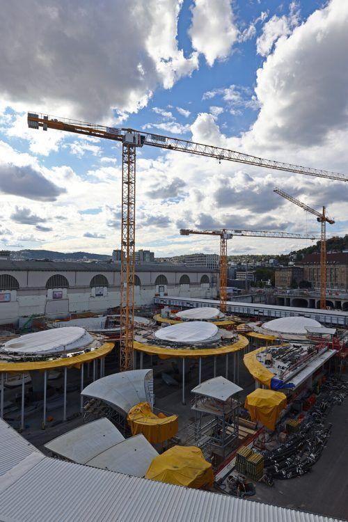 In Stuttgart schreiten die Arbeiten am Hauptbahnhof voran, nun wurden Folgeaufträge in Höhe einer Viertelmilliarde Euro vergeben. Reuters