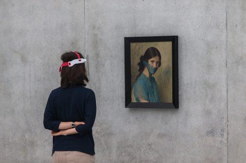 Kein Theater und keine Musik, doch Museumsbesuche mit Abstand und Maske werden höchstwahrscheinlich noch möglich sein: Arbeit von Markus Schinwald im Kunsthaus Bregenz. VN/PS, koch