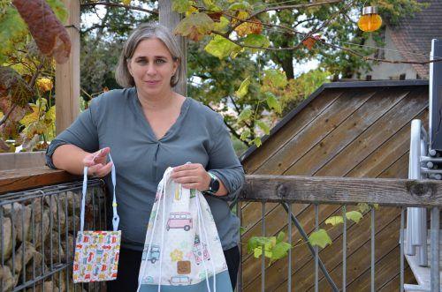 Kerstin Bösch näht Hicky-Bags und Hippie-Rucksäcke für kranke Kinder. HRJ