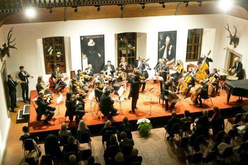 Konzert des Kammerorchesters Arpeggione im Rittersaal des Palastes in Hohenems.mathis