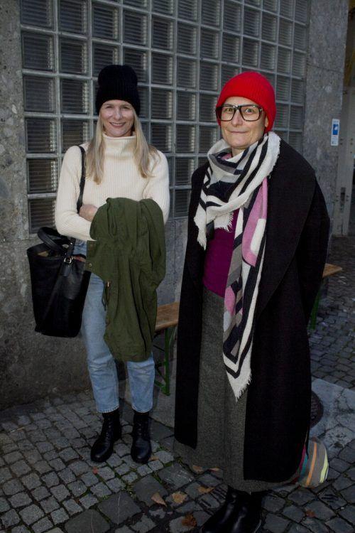 Künstlerkolleginnen Katja Berger (l.) und Christine Lederer.