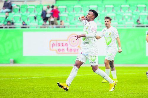 Machte ein starkes Spiel: Austrias Wallace Menezes dos Santos.gepa