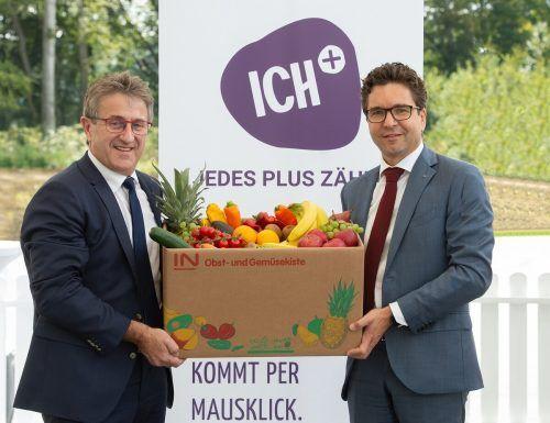 Manfred Hohensinner, GF ICH+ und Markus Kaser, GF Interspar Österreich. Fa