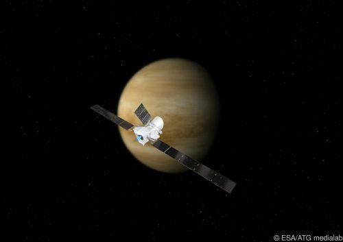 Bei dem Flug um die Venus sammelte die Sonde Daten. ESA