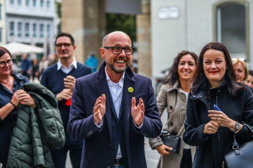 Michael Ritsch ist in Bregenz schon längst vom Feier- in den Arbeitsmodus zurückgekehrt. Eine neue Stadtregierung muss her.VN/Steurer