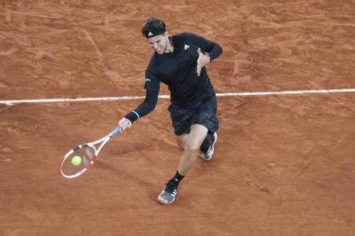 Mit dem Einzug ins Achtelfinale hat Dominic Thiem bisher 189.000 Euro Preisgeld und 180 ATP-Zähler sicher.gepa