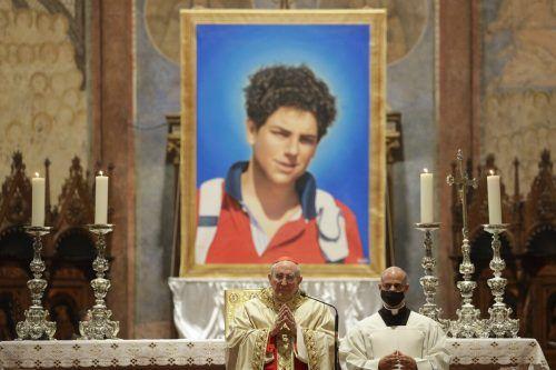 Mit einer Messe in Assisi wurde die Seligsprechung von Carlo Acutis besiegelt. Ap