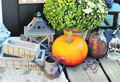 Mit wenig Aufwand und leuchtenden Farben schaffen Sie Herbststimmung.iStock