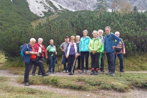 Mitglieder des Dornbirner Seniorenbundes erlebten einen schönen Herbsttag im Nenzingerhimmel. seniorenbund dornbirn