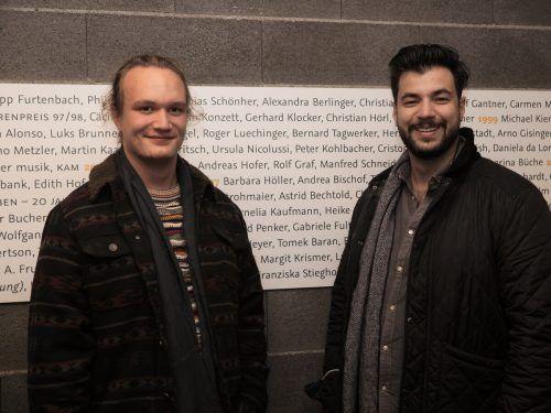 Musiker Sebastian Lorenz und Cenk Dogan (Mitorganisator des Fierobad Jazz).