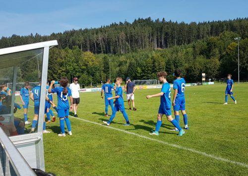 Mussten zu keiner Zeit nervös werden: Die Admira-Nachwuchskicker siegten in Krumbach mit 4:0.mima