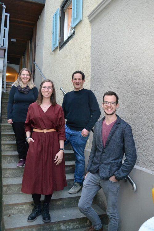 Raffaela Bitschnau-Osti, Valerie Juriatti, Lukas Bitschnau und Alexander Marent freuten sich sehr über die Eröffnung des Escape Room.