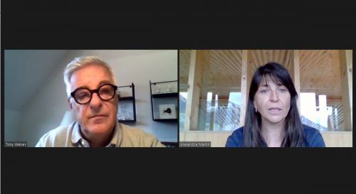 Raggaler Gemeindechefin Alexandra Martin stellte sich den Fragen von VN-Redakteur Tony Walser.
