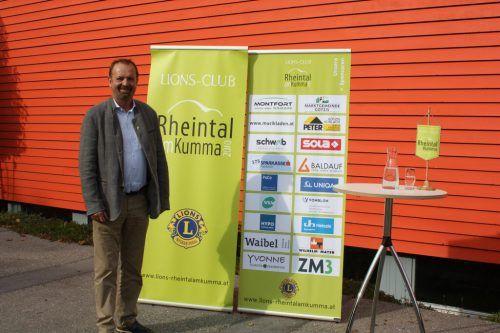 Rainer Siegele ist gewählter Präsident des Lionsclub Rheintal amKumma.Verein
