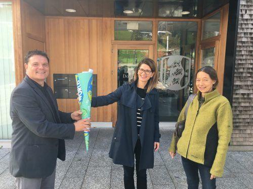 Schultüte für Bürgermeister Thomas Schierle von Parents for Future Vorarlberg.Heike Mennel