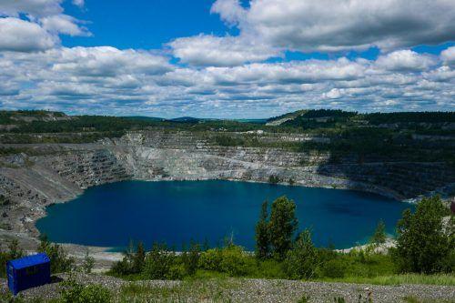 Seit die Mine geschlossen wurde, ist die Stadt wirtschaftlich angeschlagen. AFP