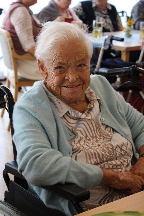 SeneCura-Bewohnerin Anni Ganahl freute sich über das gemütliche Beisammensein.