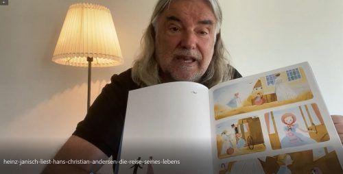 """Star-Autor Heinz Janisch liest für die Herbst-Auflage der VN-Kinder- und Jugendbuchmesse """"Buch am Bach""""."""