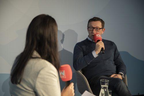 Udo Filzmaier zu Gast beim VN-Wirtschaftstalk. VN/PAulitsch