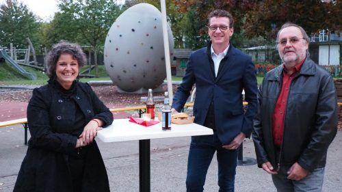 Unter den Gästen: Bürgermeister Markus Giesinger und Stefan Flatz.