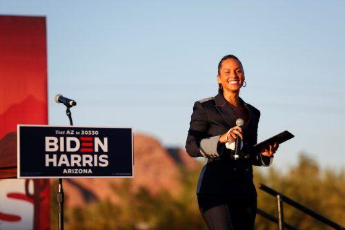 US-Sängerin Alicia Keys ist als lautstarke Trump-Gegnerin bekannt. Bei einer Wahlveranstaltung von Kamala Harris rief sie zum Wählen auf. AFP